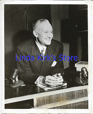 "Conrad Nagle Smiling  Seated Microphone Promotional Photograph ""Celebrity Time"""