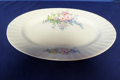 Semi Vitreous Edwin M. Knowles China Blue Flower Oval Serving Platter Lot#6-0250
