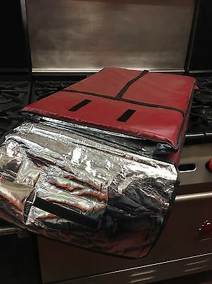 New Red Pizza Delivery Bag Insulated Xlarge Xl Large L