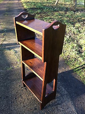 Antique Oak Open Bookcase. Bookshelves. Tiered Display Unit. What Not.