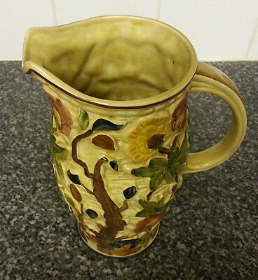*A Staffordshire hand painted `Indian Tree` water jug, by H.J Wood, *