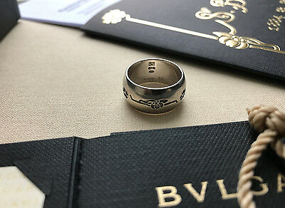 Bulgari Bvlgari original Silberring Save The Children, Größe 53