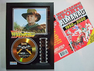 Back To The Future   Signed Film Cell Framed+Free Almanac  2