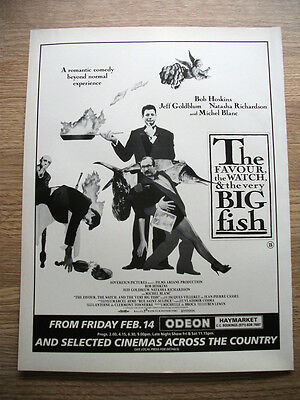 The Favour the watch & the Big Fish - FILM advert poster ephemera 1992