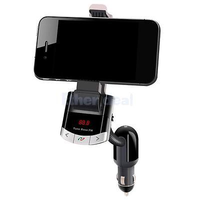 Bluetooth Handsfree FM Transmitter Car Kit Charger MP3 Player Phone Holder