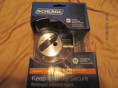 NEW Schlage Single Cylinder Satin Nickel Deadbolt (B60N v 619)