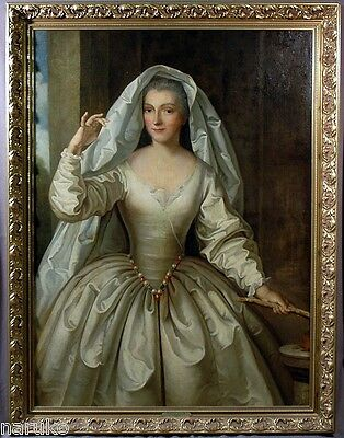 BEAUTIFUL 18C O/C PAINTING of MADAME BOUCHER AS A VESTAL