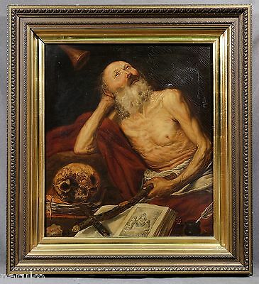 OLD MASTERS 17C - 18C PAINTING OF SAINT JEROME AFTER Antonio De Pereda Y Salgado