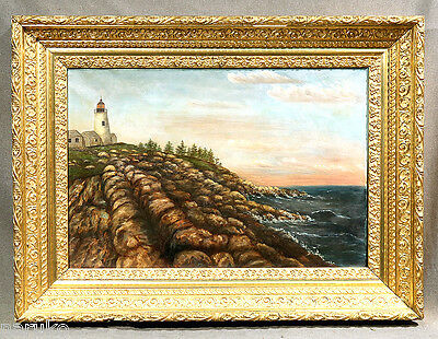 Glorious Oil Painting Of The Pemaquid Point Lighthouse In Maine A Great Buy