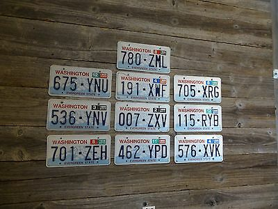 Washington License Plate  Original WA Plate. Washington Original License Plate.