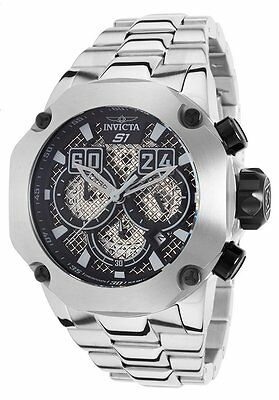 """@New Invicta 52mm S1 """"Twisted Metal"""" Chronograph Stainless Steel Bracelet 19428"""