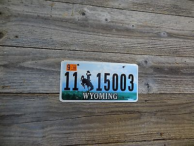 Wyoming license plate bucking horse.  Wyoming license single license plate!!.