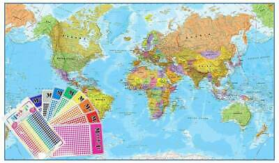 World Maps International 1:20 million Supermap 2000 x 1200mm Laminated Wall Map