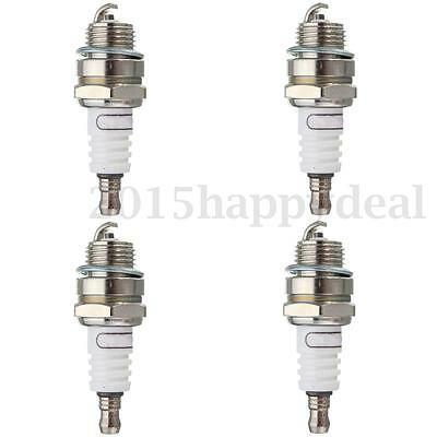 4Pcs Replacement Spark Plug for 2-Stroke Lawnmower Strimmer Trimmer Chainsaw UK