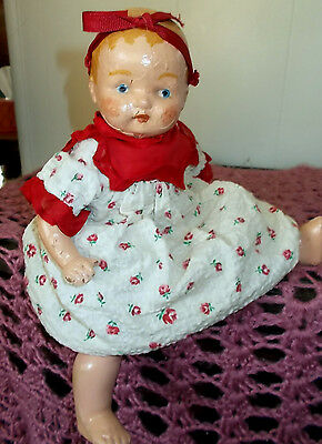 Vintage Comp Doll 11 Inch 1930,s Or 40,s 11 Inch