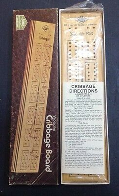 Vintage Wooden Cribbage Board By Milton Bradley Company # 1503