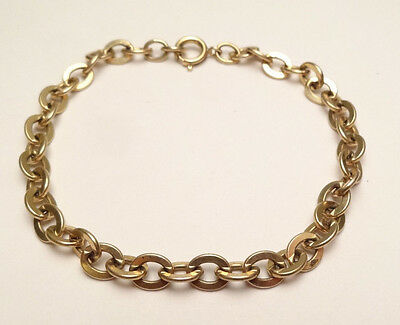 """VINTAGE BEAUTIFUL CABLE CHAIN LINK BRACELET 12K GOLD FILLED 7 1/4"""" INCH 5mm"""