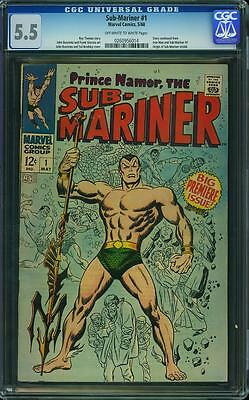 SUB-MARINER #1 CGC 5.5 Big Premiere Issue! Story continued from Iron Man & Sub#1