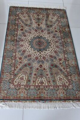 3' X 5' silk carpet classic pattern area rugs  traditional hand knotted  persian