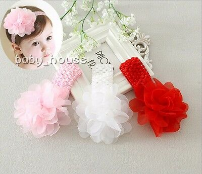 baby headband infant girls newborn headwear Hair Accessories lace flower bow