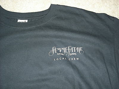 "BRITNEY SPEARS rare ""Femme Fatale"" 2011 tour crew shirt adult XL mint condition"