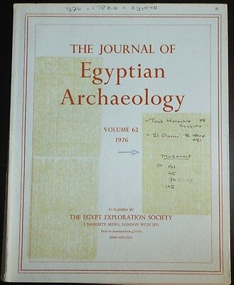 The Journal of Egyptian Archaeology Volume 62 1976 The Egypt Exploration Society