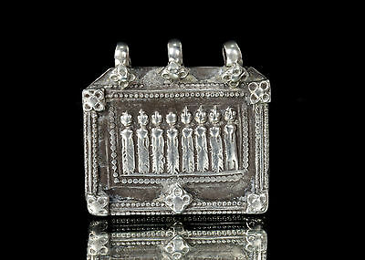 Traditional Indian Amulet Pendant Tribal Jewellery Square Shape. G10-14