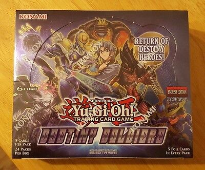 YUGIOH 1st Edition Destiny Soldiers Booster Box Factory Sealed *ENGLISH*