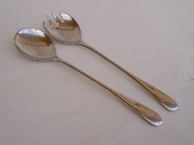 Serving Spoon / Fork - Silver Plated Italy -
