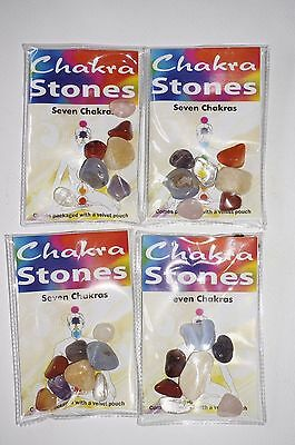 Chakra stones kit bag tumble Crystal Gemstone Healing reiki yoga natural