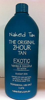 NAKED TAN -  EXOTIC - 12% DHA Spray Tan Solution - 2hr wash'n'wear