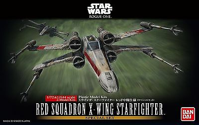 Red Squadron X-Wing Fighter Modellbausatz 1/72 von Bandai, Star Wars: Rogue One