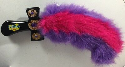 The Wiggles Furry Sword Plush Toy Lights Up Giggles 2003 Spin Master Pink Purple