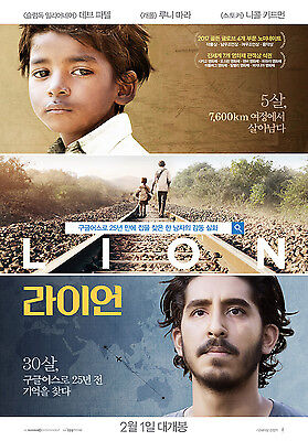 Lion Golden Globes Awards 2017 Korean Mini Movie Posters Movie Flyers (A4 Size)
