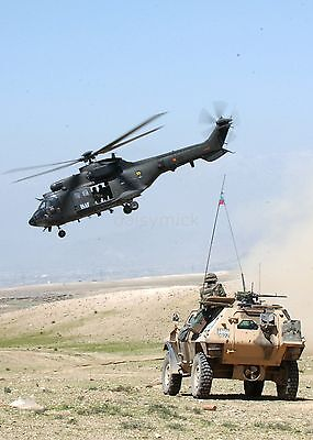 "French Foreign Legion Soldiers Afghanistan 2005 Spanish Helicopter 11x8"" Photo"