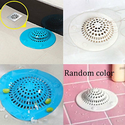 Silicone Kitchen Hair Catcher Strainer Mesh Bathroom Shower Drain Rubbish Filter