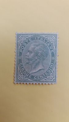 Italy Scarce 1863 5c Greenish Grey Stamp in MNH Condition as Photo CV=$3.750
