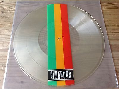 The Cimarons Big Girls Don't Cry Rare 3 Track 12 Inch Clear Vinyl P/disc 12 Inch