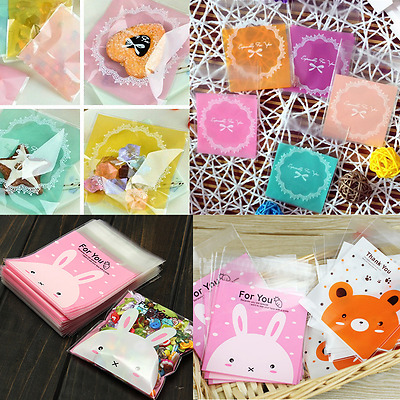 100 Pcs Homemade Cookies Favor Self-Adhesive OPP Bag For Party Gift Wedding