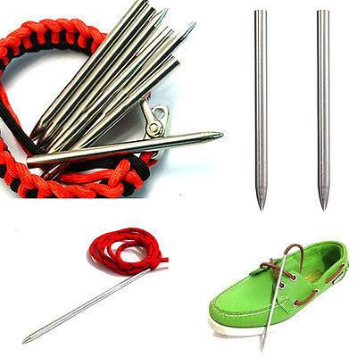 2pcs 3inch Stainless Steel Paracord Thread Shaft Tip Stiching Weave Needle