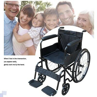 New All AID Puncture Proof Self Propel Folding Portable Propelled Wheelchair UK