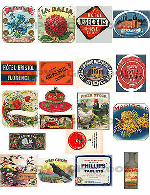 HUGE collection of EPHEMERA~ViCtoRiAn~CiGaR~LABELS~WINGS~TAGS+LOTS MORE on 5 CDs