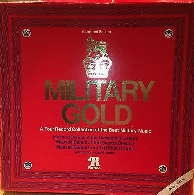 Military Gold - 4 Vinyl Records Of Best Military Music
