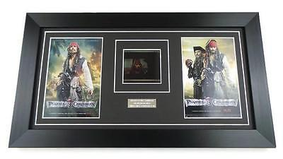 PIRATES OF THE CARIBBEAN FILM CELL ORIGINAL IMAX 70MM JOHNNY DEPP Framed GIFTS