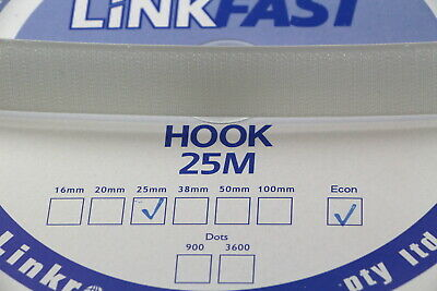 Hook and Loop HOOK SIDE 25mts 20mm Sewing Horse rugs, bags, tents, canvas,cars