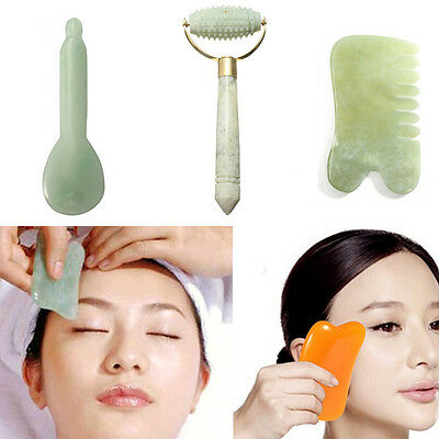 Chinese GuaSha Natural Jade Stone Scraping Body Care Massager Relaxiation Health