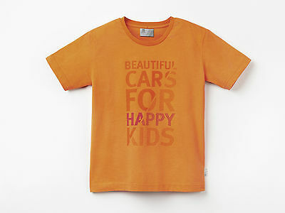 "Original SEAT Kinder T Shirt Mottoshirt ""Beautiful Cars"" mit Logo, orange"