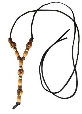 Wholesale Ethnic Tribal African Boho Bead Wood Festival Y Statement Necklace
