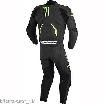Alpinestars WARG Monster 1 One Piece Black / Green Race Leather Motorcycle Suit
