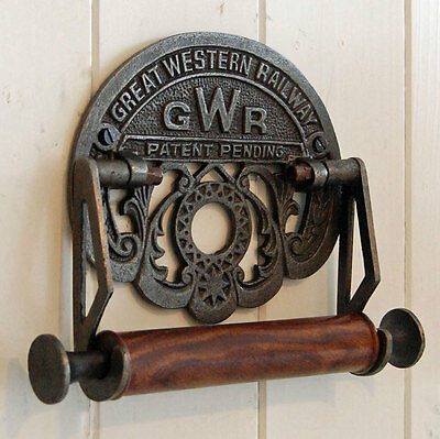 Traditional GWR railways vintage design wall mounted toilet loo roll holder.